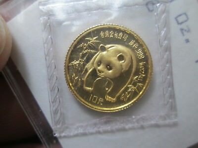 1986 Chinese Panda .999 Gold 1/10 oz- IN THE ORIGINAL MINT PACKAGING PLASTIC