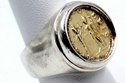 Vintage Sterling Silver Ring With Ancient Coin - No Reserve #305