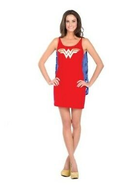 Wonder Woman Tank Dress Teen with Cape
