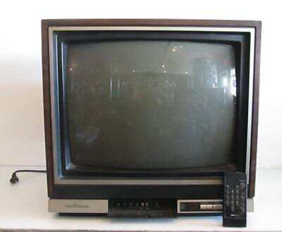 "Vtg 19"" 1986 Sears Roebuck SR3000 AC DC Color CRT Gaming TV Television w/ Remote"