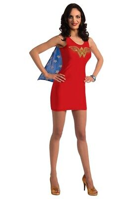Wonder Woman Jeweled Tank Dress Teen with Cape