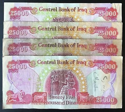 100,000 Iraqi Dinar (IQD) 4-25K's - Authentic - Limited Quantity - Fast Delivery