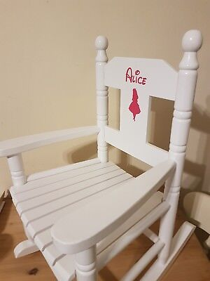 Powell Craft Childrens Wooden Rocking Chair Any Name And Princess