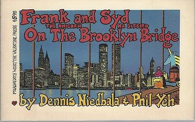 Frank The Unicorn And Syd Ha Sitbird On The Brooklyn Bridge Softcover Book 1986