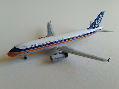 1:400 AeroClassics JetBlue Airways Airbus A320-200 ACN763JB N763JB Retro