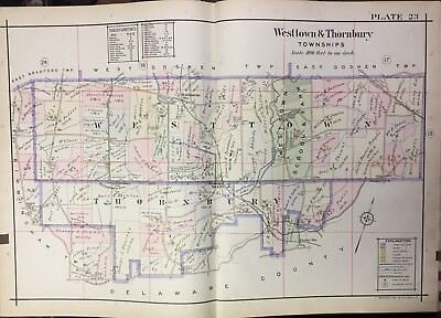 1912 Chester Co Pa Westtown School Thornbury Institute 4 Colored Youth Atlas Map