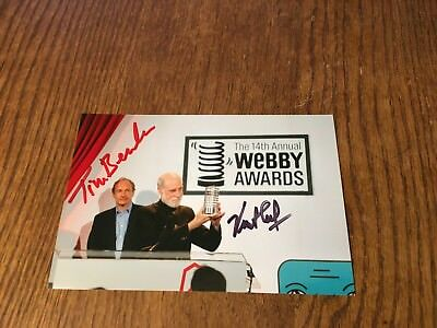 Inventors Of The Internet & World Wide Web Cerf & Berners Lee Signed 4X6! Rare 1