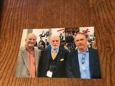 Inventors Of The Internet & World Wide Web Cerf & Berners Lee Signed 4X6! Rare 2