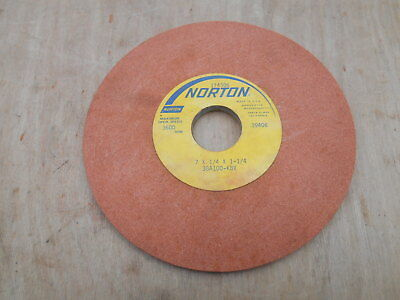 "NORTON SURFACE GRINDING WHEEL , 7 x 1/4 x 1-1/4"" , 38A100-K8V"