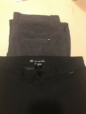 Travis mathew 32 Pants Nylon Golf With pockets Button And Zipper Fly 2 Pairs
