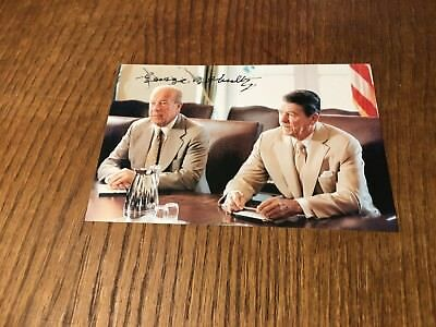 George Shultz Signed 4X6 Photo! Pres Reagan's Secretary Of State Authentic 3