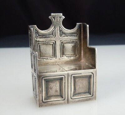 1914 English Sterling Silver Miniature St. Augustine Chair Throne -Canterbury