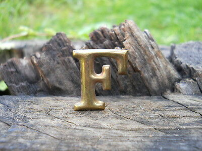 Rare Original Vintage Antique Civil War Relic Company Letter F Brass Lead Filled