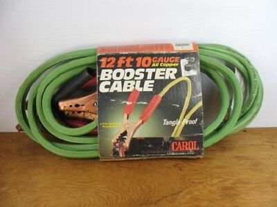 Carol Cable Co Inc. 12 Foot 10 Gauge All Copper Booster Cable - Made In The USA