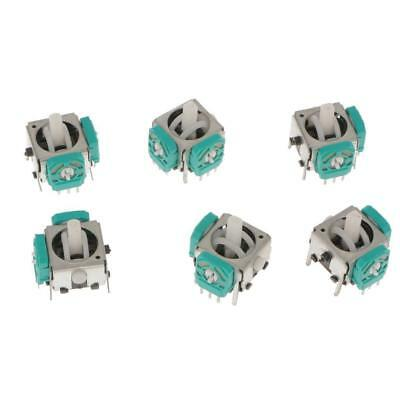 6x 3D Analog Joystick Stick Switch Replacement for Nintendo Game cube Controller