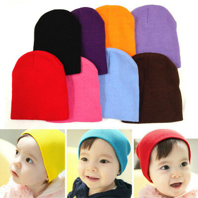 Soft Newborn Baby Hat Toddler Cute Knitted Crochet Colorful Kids Cap Beanie