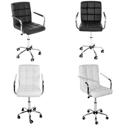 New Office Chair Swivel PU Leather Adjustable Computer Desk Armchair Seat Home