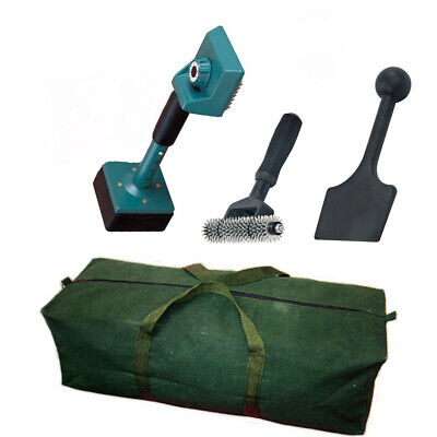 Carpet Fitting Tool Kit - Green Knee Kicker Seam Roller Stair Press Canvas Bag