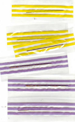 3 x Gold Plated Cross Stitch Needles Wrapped Size 24 or 26 FREE POSTAGE (UK)
