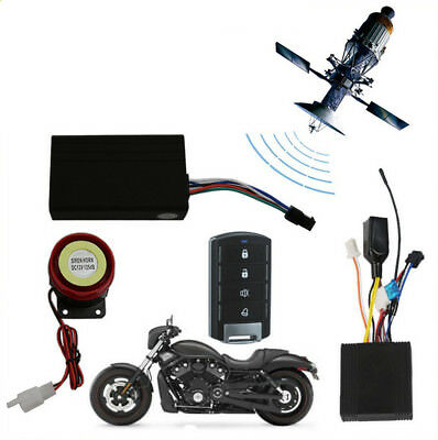 Motorcycle GPS Tracker & One Way Keyless Entry Engine Remote Start Alarm System