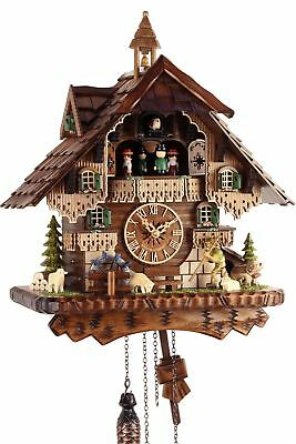 Black Forest House 42cm - Cuckoo Clock Real Wood New Battery Powered