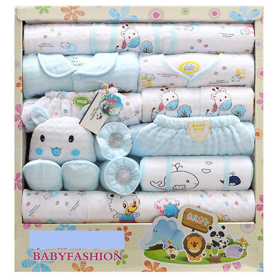 18pcs/Lot cotton newborn infant Clothes Set original baby Boy Girl Clothing gift