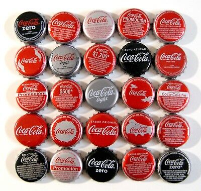 LOT X 25 COCA-COLA bottle caps COLOMBIA and SPAIN - L1-2018 COCA COLA COKE