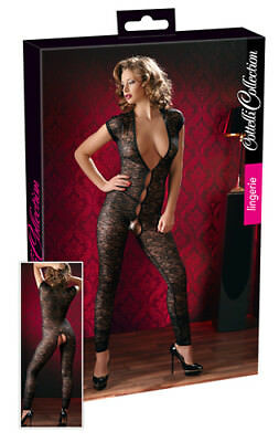 Tuta in pizzo nero Jumpsuit Cottelli Lingerie Intimo donna erotic SEXY SHOP TOYS