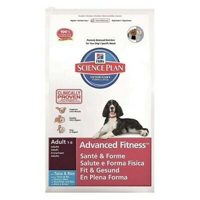 HILL S science plan cane adult advanced fitness medium tuna mangime secco kg12