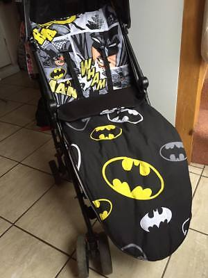 Super Hero Baby Buggy Footmuff  Universal Handmade Cosy Toes Made To Order