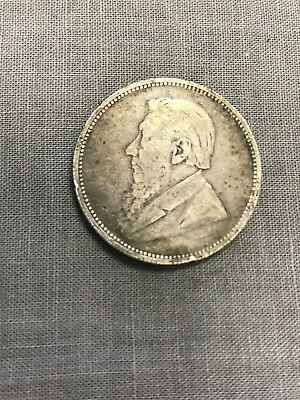 South Africa 1895 silver 2 shilling