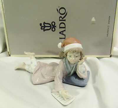 "LLADRO # 6194 ""Christmas Wishes"" Porcelain Figurine Perfect Original Box"