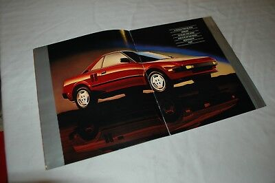 Lot of 2 irst-generation Toyota MR2 sales brochures