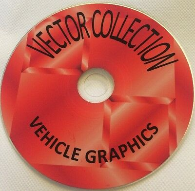 1300 VEHICLE GRAPHICS CAR BIKE VECTOR images vinyl Plotter Cutter DVD files EPS