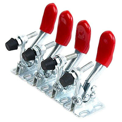 4pcs Red Toggle Clamp GH-201A 201-A Quick Release Tool Horizontal Clamp HandHuG
