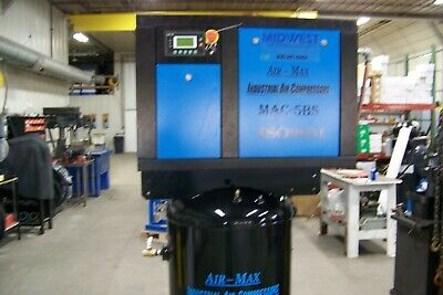 Air-Max 5 hp AMB-5STM80V (NEW) Industrial Rotary Screw Compressor 80 vertical