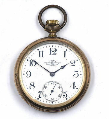 ANTIQUE BALL WATCH CO RAILROAD GRADE POCKET WATCH 19 JEWELS GOLD FILL c1906