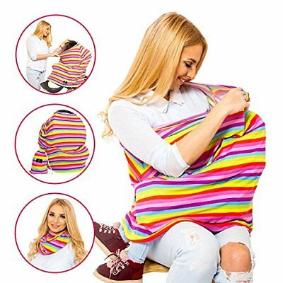 Nursing Cover for Breastfeeding Multi Use Nursing Scarf with Pouch