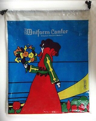 FLOWER GIRL by Peter Max plastic drawstring shopping bag-double sided