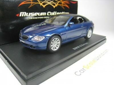 BMW 6 SERIES CONVERTIBLE 645Ci E64 1/43 KYOSHO (BLUE)