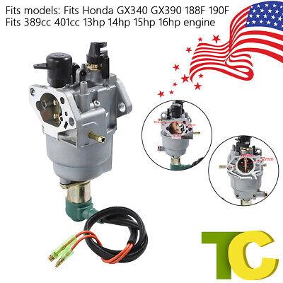 For Honda GX390 188F Generator 13HP Engine Carburetor with Solenoid Carb