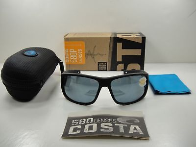 dee1cceecac20 Costa Del Mar Cape Polarized CAP187 OSGP Sunglasses Black Ultra Silver Gray  580P