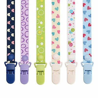 Pacifier Clip by Willceal 6 Pack Adjustable and Premium Quality with Modern Ring