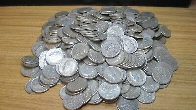 $5 Face 50 dimes Roosevelt Dimes average circulated