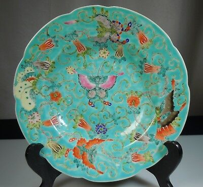 Chinese Export Porcelain Famille Verte Soup Bowl Plate             50532
