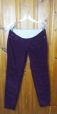 A Pea In The Pod Womens Jeans Cotton Skinny Corduroy Full Belly Panel Size M