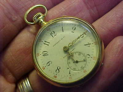 Rare 1912 - 1913 18k Gold Longines Pocket Watch Made For Tiffany & Co.RUNS GREAT