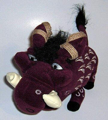 "Disney PUMBAA ~ The Lion King Broadway ~ Plush, Warthog Pig, Burgandy 9"" x 6"""