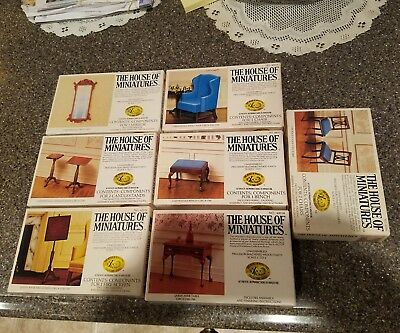 The House Of Miniatures Doll House Furniture Kits Lot Of 7 Kits 1970u0027S