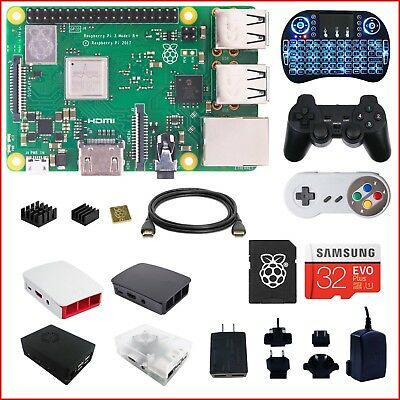 Berryku Raspberry Pi 3 B+ (B Plus) DIY Kit - Black KODI RetroPie Minecraft
